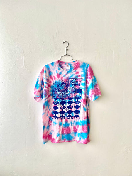 Love Tee - L - Pink + Blue Tie Dye by Chanel Colleaux