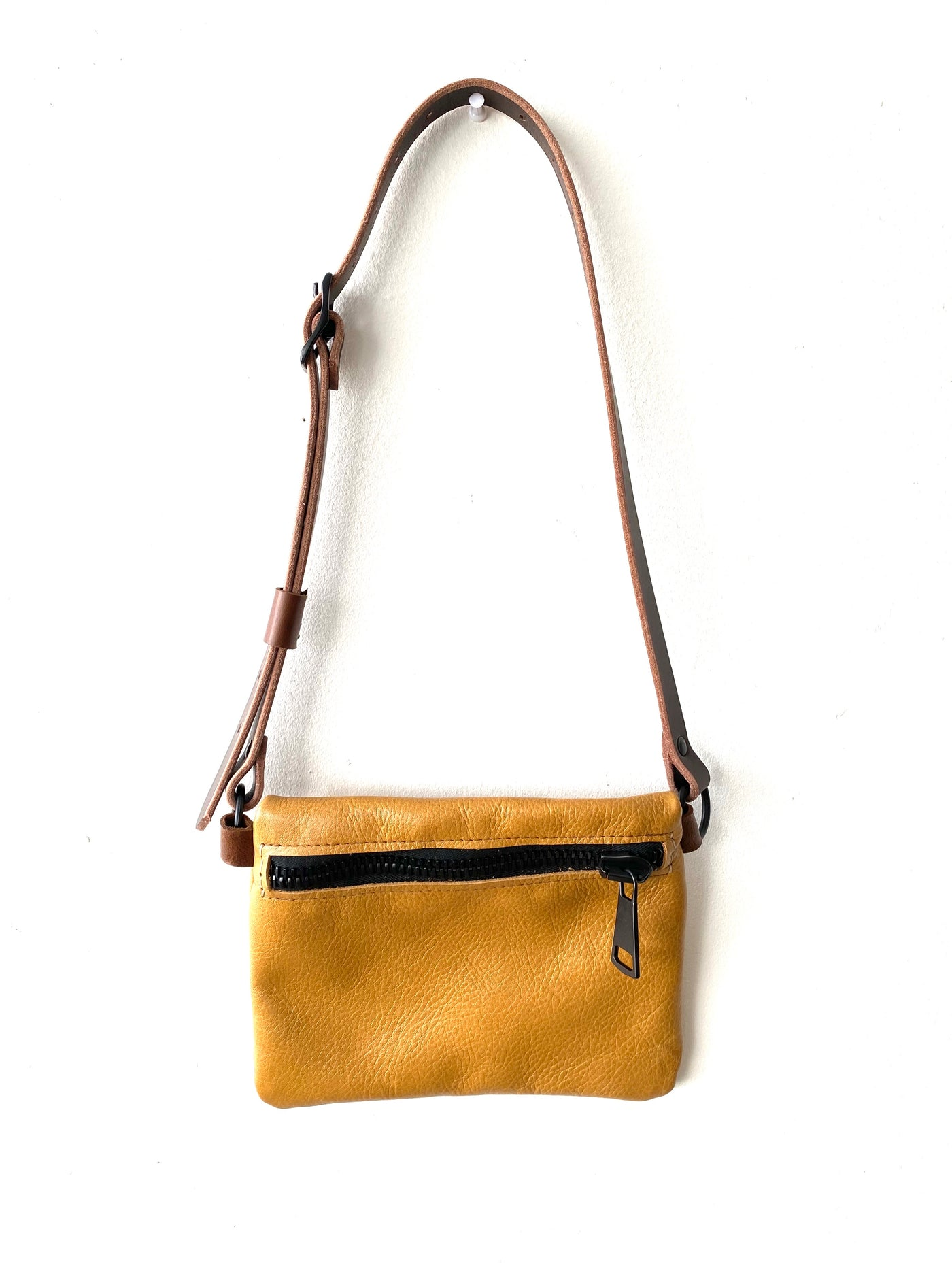 Gold Leather Fanny Pack by Your Bag of Holding