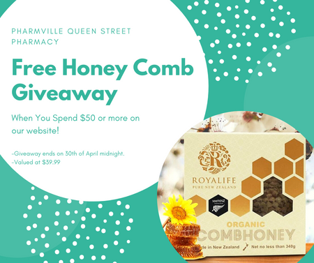 Free Honey Comb Giveaway When You Spend $50 or more!