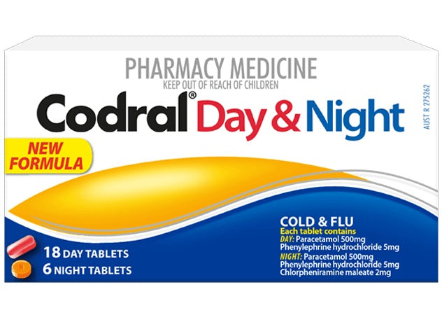 Codral Day And Night Cold & Flu Tablets