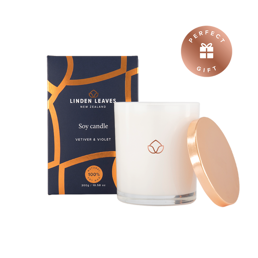 Linden Leaves Soy Candle Vetiver & Violet 300g
