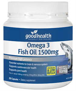 GHP Omega 3 Fish Oil 1500mg 400caps