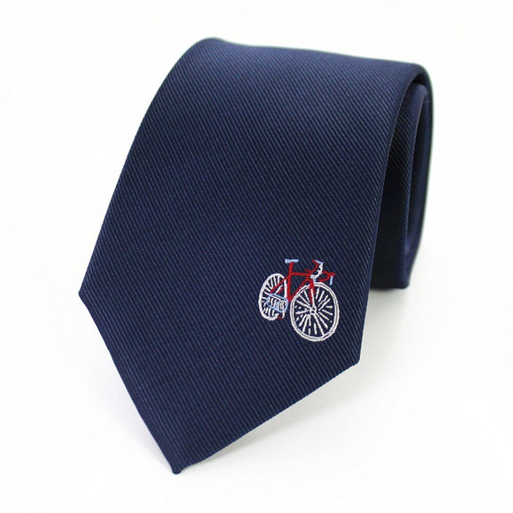 Bicycle Motive Silk Tie