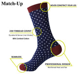 Dark Patterned Cotton Socks (5pc)