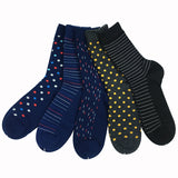 Striped & Dotted Cotton Socks Set (5pc)