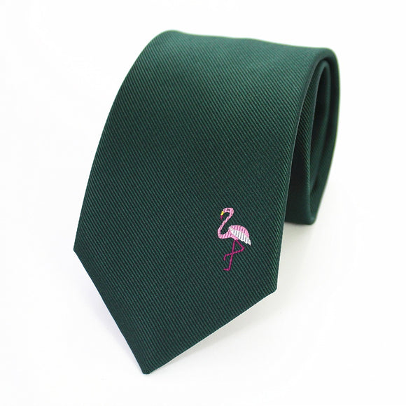 Flamingo Motive Tie