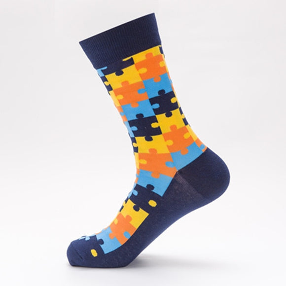Puzzle Themed Socks