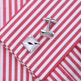 Striped Silver Cufflinks