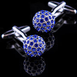 Blue Crystal Ball Cufflinks