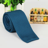 Solid Colored Knit Ties
