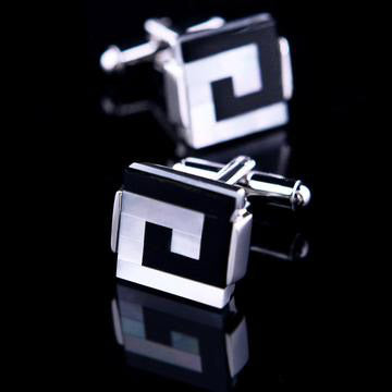 Black-White Maze Cufflinks