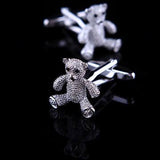Crystal Teddy Cufflinks
