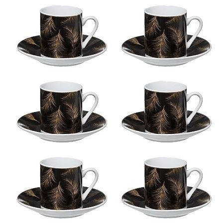 Lot de 6 tasses à café + Soucoupes