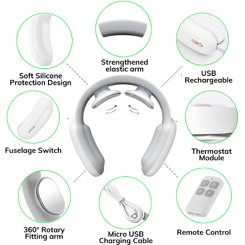 Neck Soother™️- Intelligent Electric Pulse Neck Massager - Trendy World