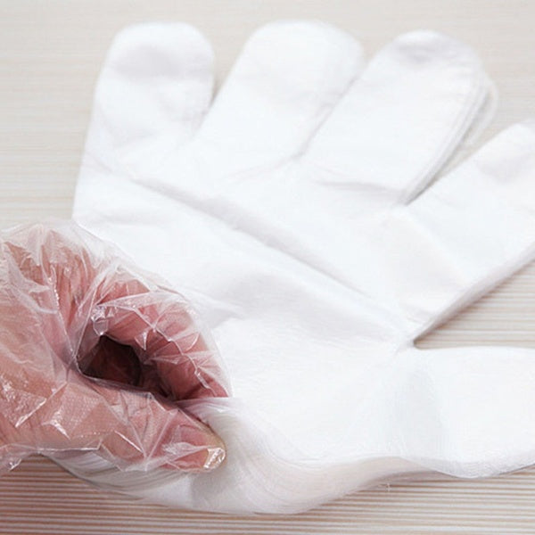 100 HDPE Disposable Gloves (Instock)