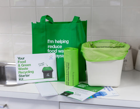 Bayside Council Food Waste Kitchen Caddy and Food waste recycling starter kit