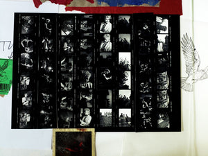 Stray Cats (Mixed Media Art Contact Sheet - First Design)