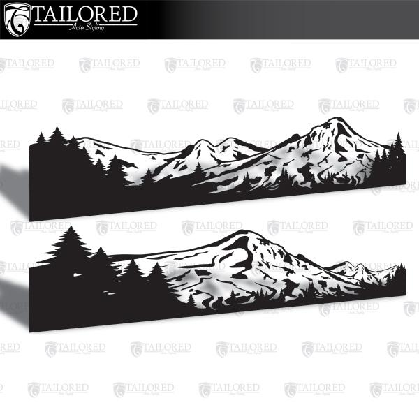 Mt. Hood Universal Vehicle Side Banner Graphic