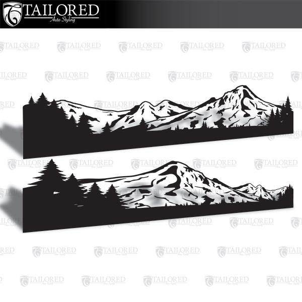 Mt. Hood Solid Bottom Universal Vehicle Side Banner Graphic