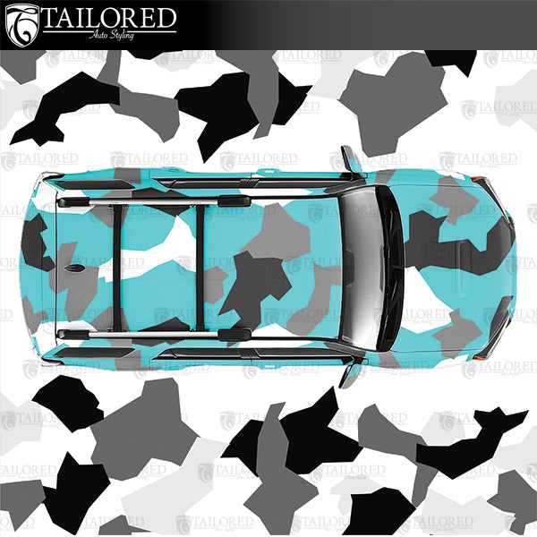 DIY livery blocky camo kit in 3 different colors and all different sizes and shapes per color.