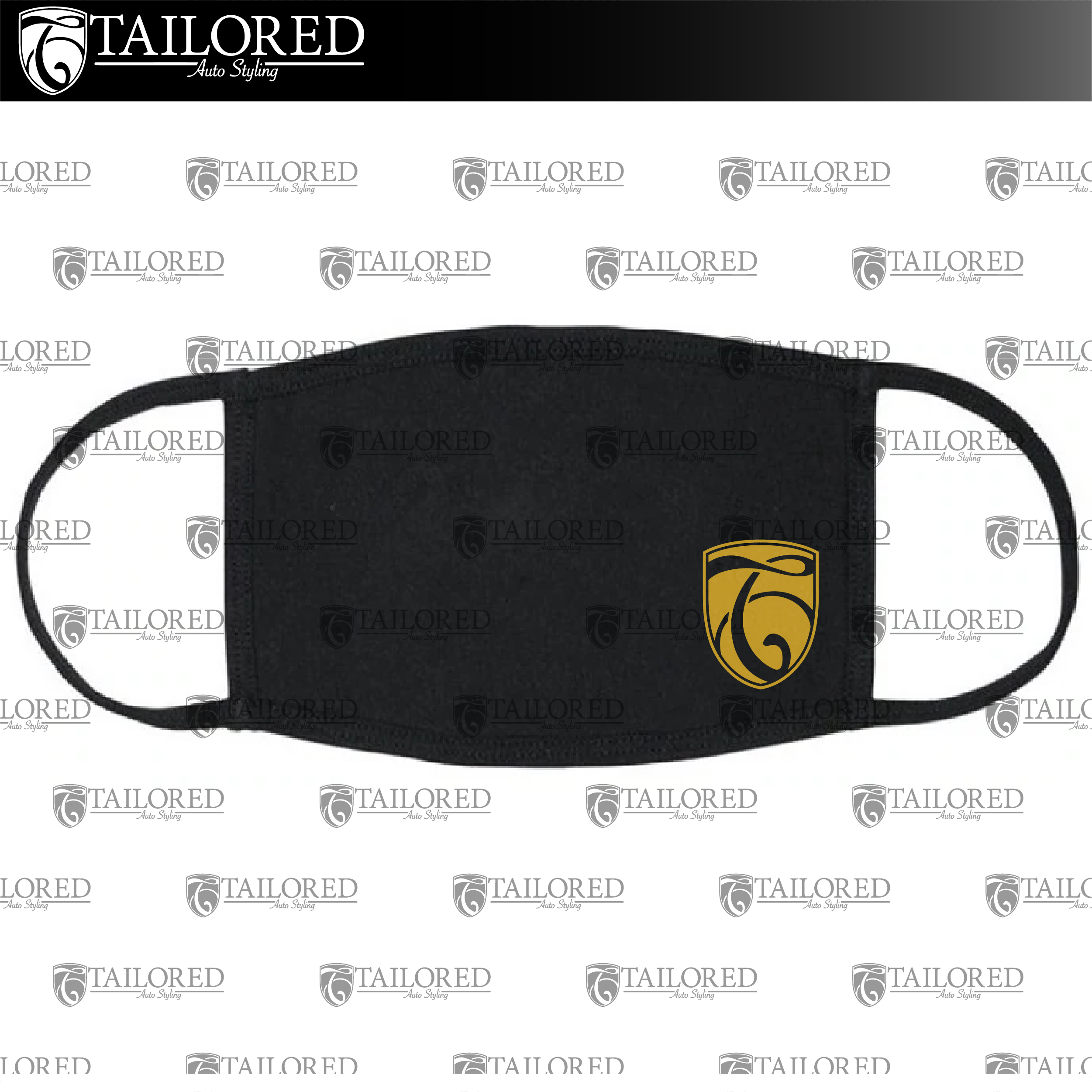 Face Mask Black/ Gold