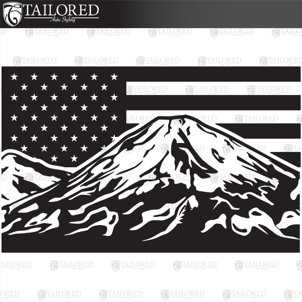 2013-2020 Toyota 4Runner Mt. Hooji American Flag Rear Quarter Window Graphic