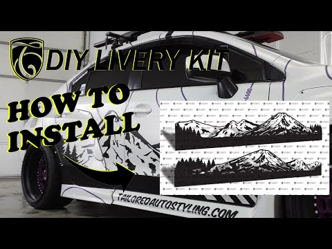 How To DIY Livery Installation Video Mountains and topographic vinyl kits