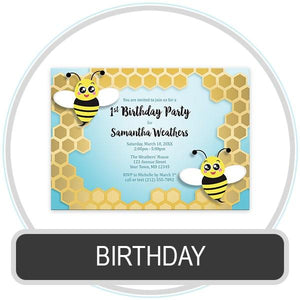 Birthday Invitations online at Artistically Invited