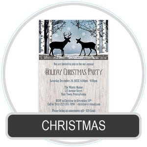 Christmas Invitations online at Artistically Invited