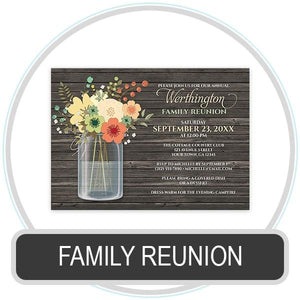 Family Reunion Invitations online at Artistically Invited