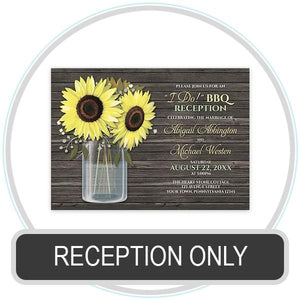 Reception Only Invitations online at Artistically Invited
