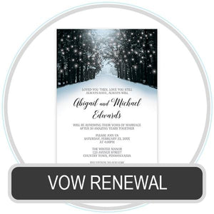 Vow Renewal Invitations online at Artistically Invited