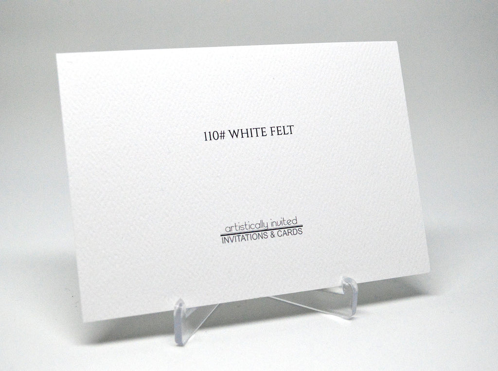 110# White Felt at Artistically Invited