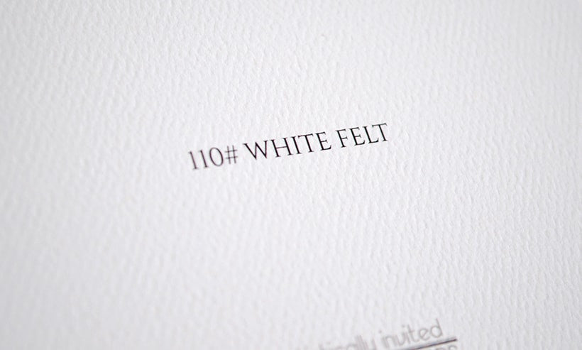 110 White Felt up close - Artistically Invited