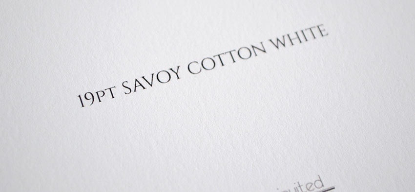 19pt Savoy Cotton close up - Artistically Invited