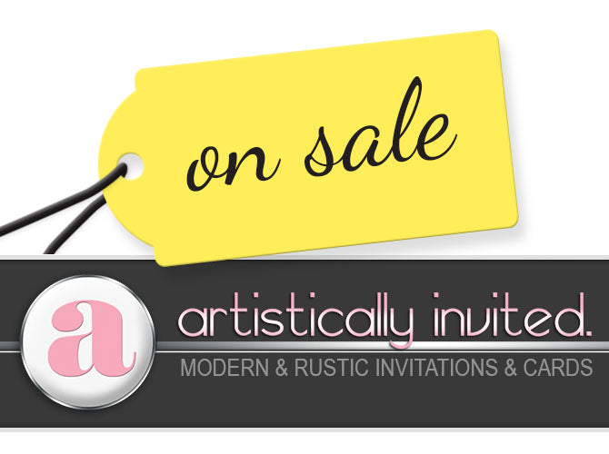 Coupons and Sale Announcements at Artistically Invited