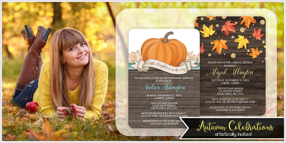 Fall Invitations - Artistically Invited