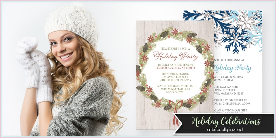Holiday Invitations - Artistically Invited