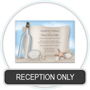 Reception Only Invitations / Post Wedding Invitations