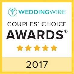 2017 Couples' Choice Awards Winner at WeddingWire - Artistically Invited