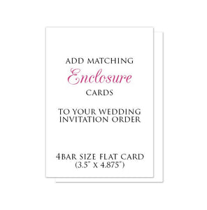 4BAR-size Enclosure Cards to match your Invitation Order - 3.5 x 4.875 at Artistically Invited