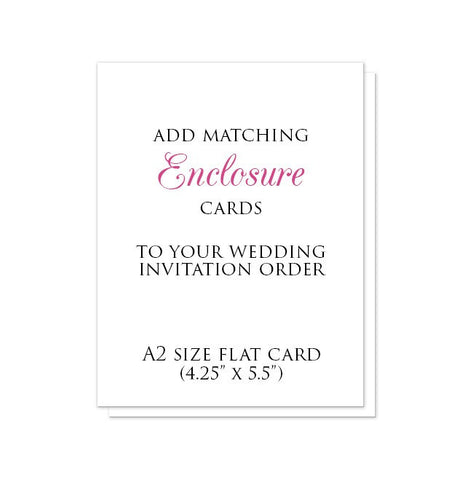 A2-size Enclosure Cards to match your Invitation Order