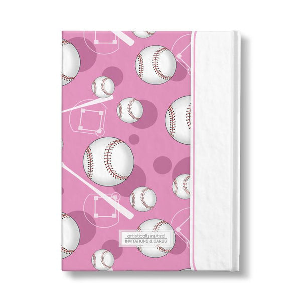 Personalized Pink Baseball Journal at Artistically Invited