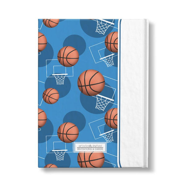 Personalized Blue Basketball Journal at Artistically Invited