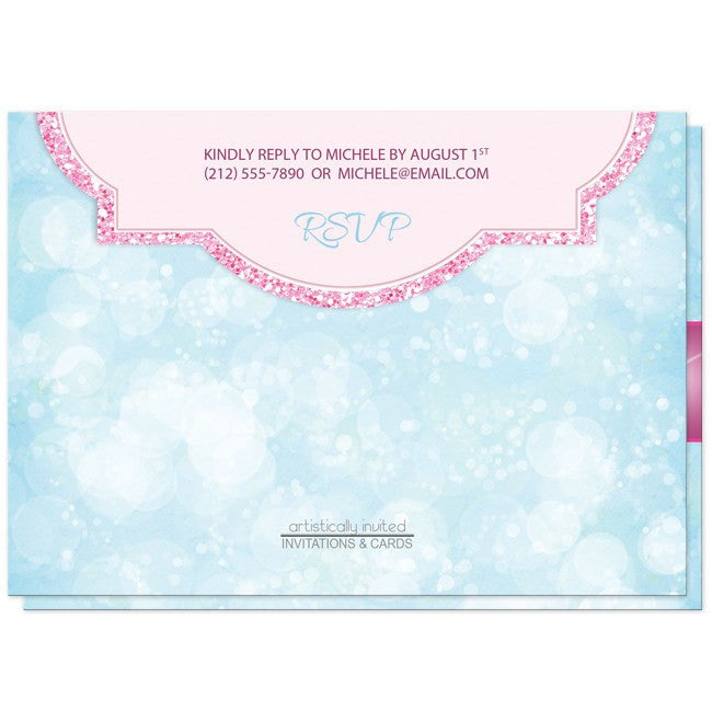 Royal Princess Pink and Blue Girls Birthday Party Invitations at  Artistically Invited