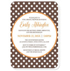 Orange Brown Polka Dot Bridal Shower Invitations at  Artistically Invited