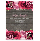Rustic Burgundy Pink Rose Wood Bridal Shower Invitations at  Artistically Invited