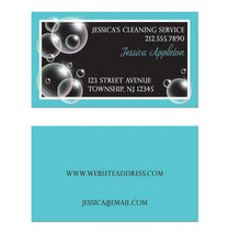 Bubbles Cleaning Service Turquoise Business Cards
