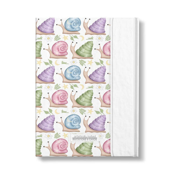 Personalized Cute Snails Journal (back side) at Artistically Invited
