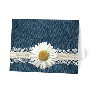 Daisy Burlap and Lace Denim - Daisy Note Cards at Artistically Invited